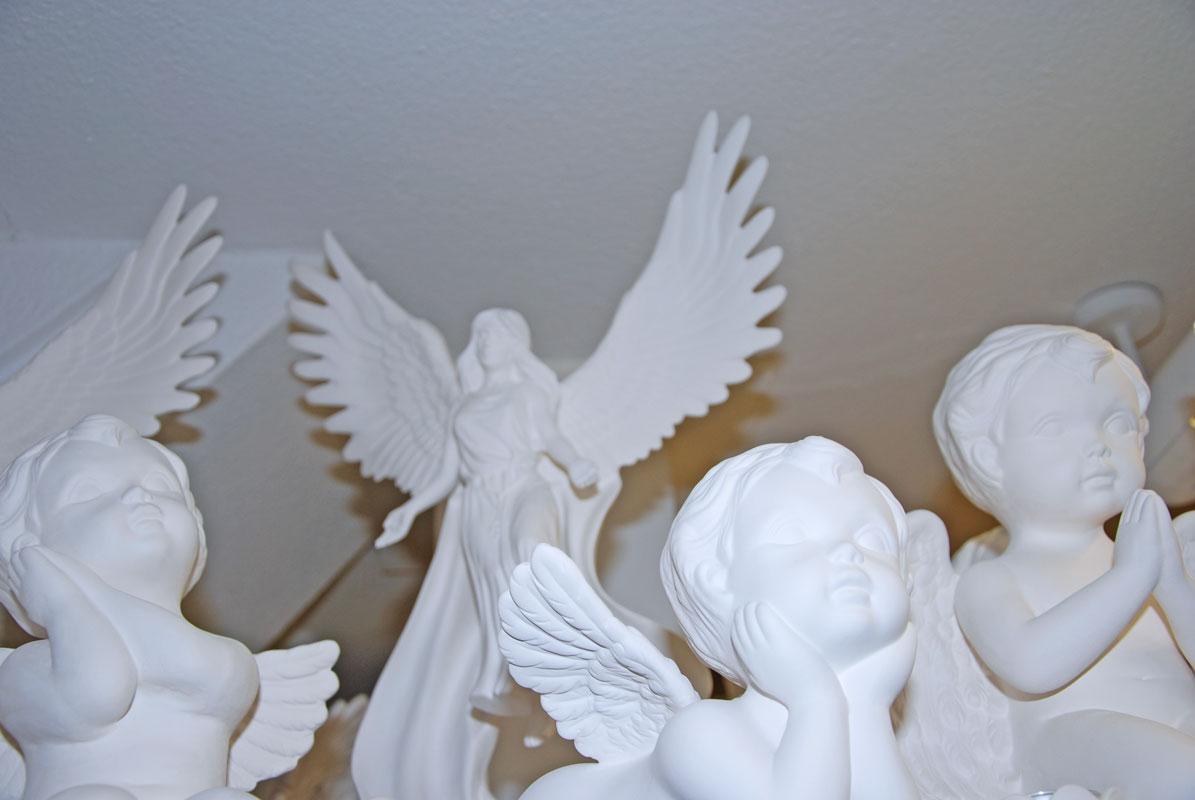 Engel in verschiedenen Grössen